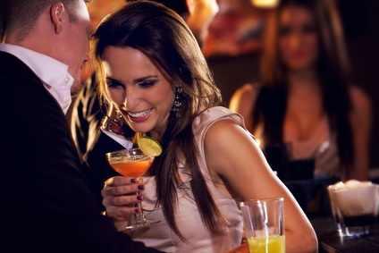 Flirt in a club